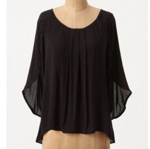 Anthro Maeve button sleeve braxton blouse xs